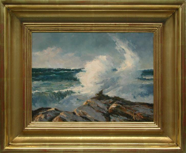 Tidal Burst, oil on stretched Belgian linen, 12 x 9 inches, $2,400
