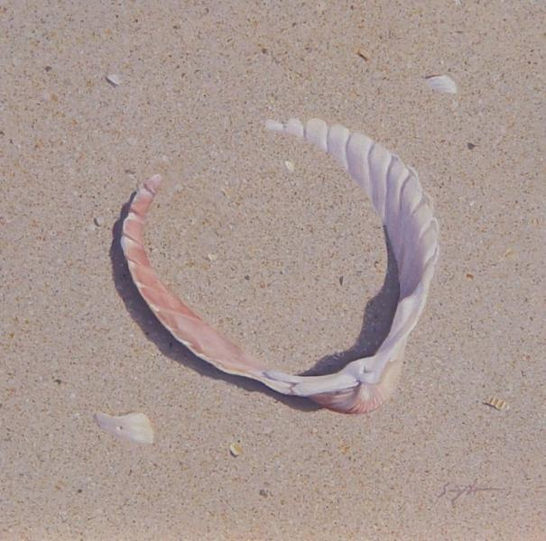 Adrift, oil on panel, 4 x 4 inches  SOLD