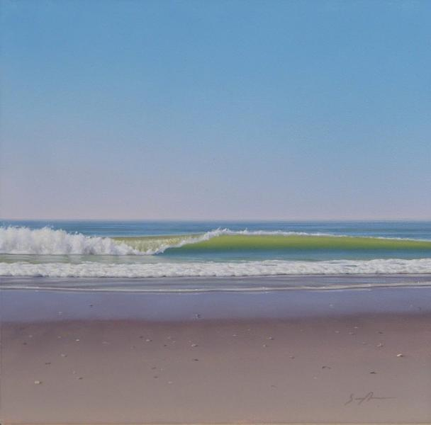 Breaking Wave, oil on panel, 6 x 6 inches  SOLD