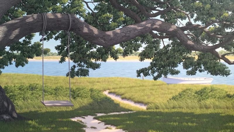 A Summer's Morning, oil on canvas, 24 x 42 inches  SOLD