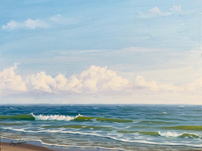 Afternoon, Plein Air Sea Study, oil on panel, 6 x 8 inches, $550