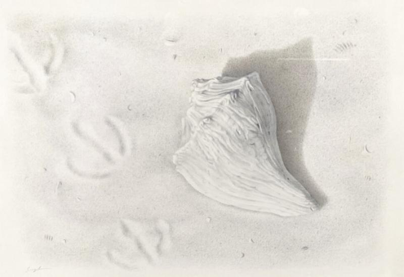 Along the Shore, 24k gold and pure silver on prepared paper, 5.25 x 7.25 inches, $1,500
