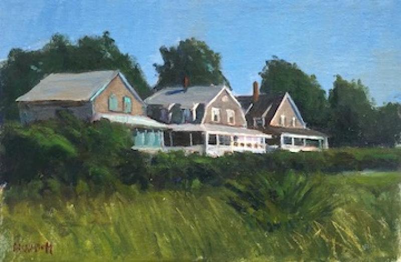 Cape Cottages, oil on canvas panel, 8 x 12 inches, $975