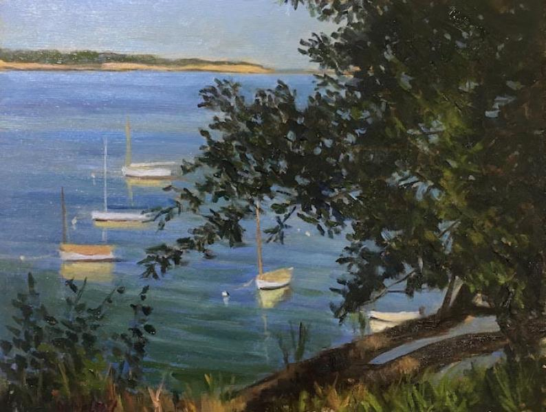 Early Evening, Pleasant Bay, oil on canvas panel, 11 x 14 inches, $1,600
