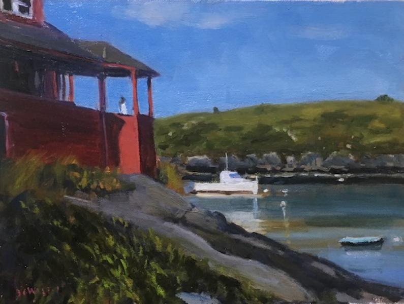 Monhegan House II, oil on panel, 9 x 12 inches   SOLD
