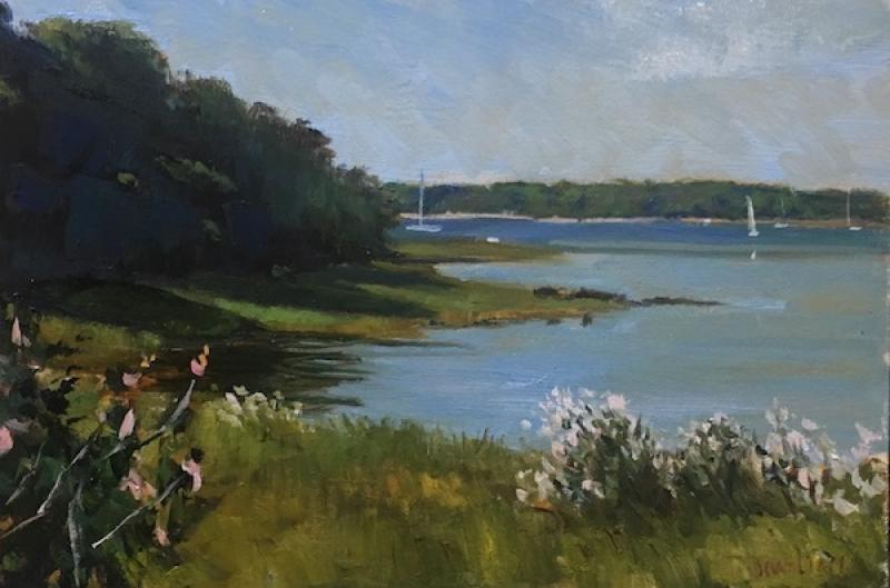 Red Brook Harbor, oil on panel, 8 x 12 inches, $600