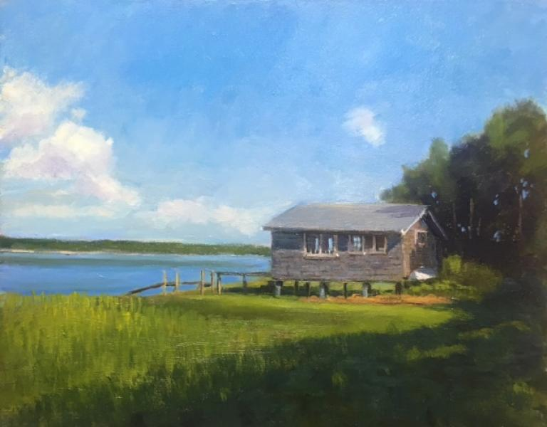 Boat House, oil on canvas, 16 x 20 inches, $2,400