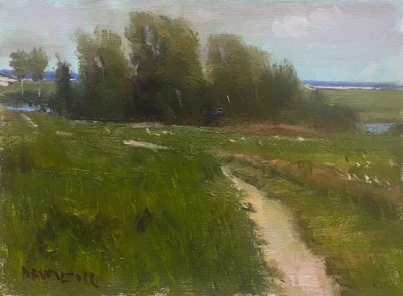 Fort Hill View, oil on canvas panel, 6 x 8 inches  SOLD
