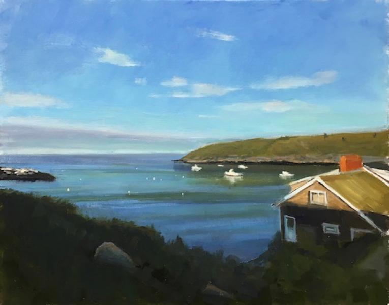 Monhegan View, oil on canvas , 16 x 20 inches, $2,400