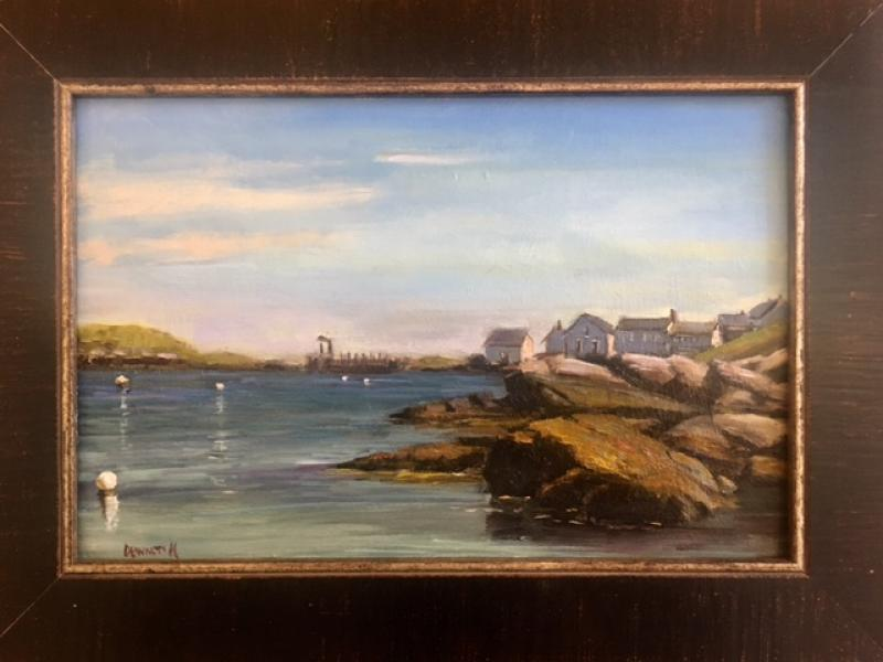 Fish Beach View, oil on canvas panel, 8 x 12 inches, $975