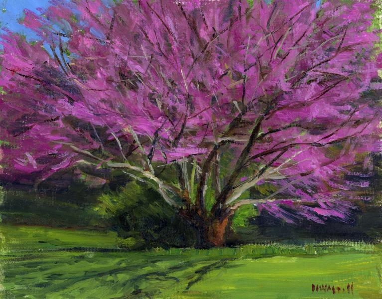 Red Bud, oil on canvas panel, 8 x 10 inches  SOLD