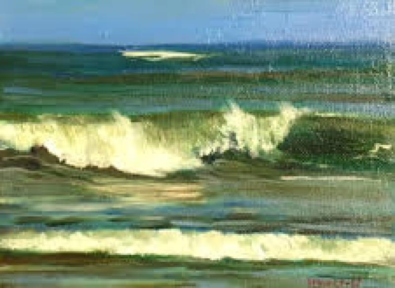 Wave, oil on canvas panel, 6 x 8 inches   SOLD
