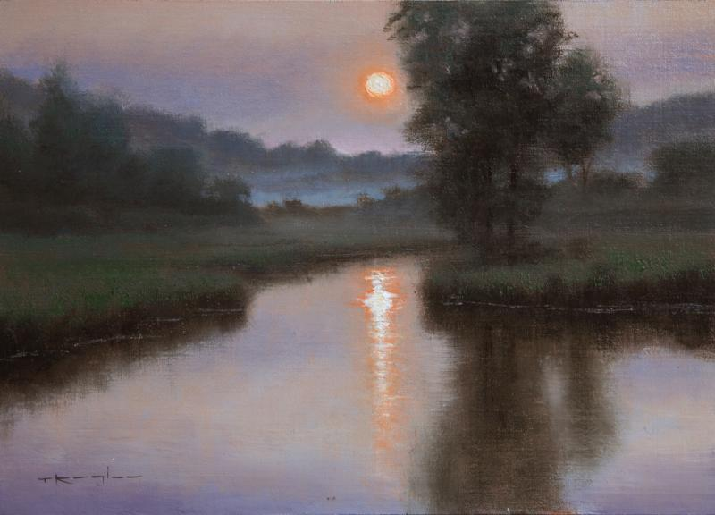 August Dawn, 1 Corintians 6:20, oil on linen, 9 x 12 inches, $2,000