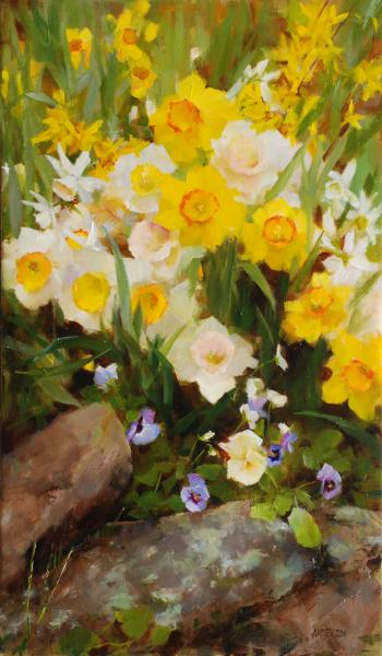 Daffodil Dance, oil on canvas, 20 x 12 inches  SOLD