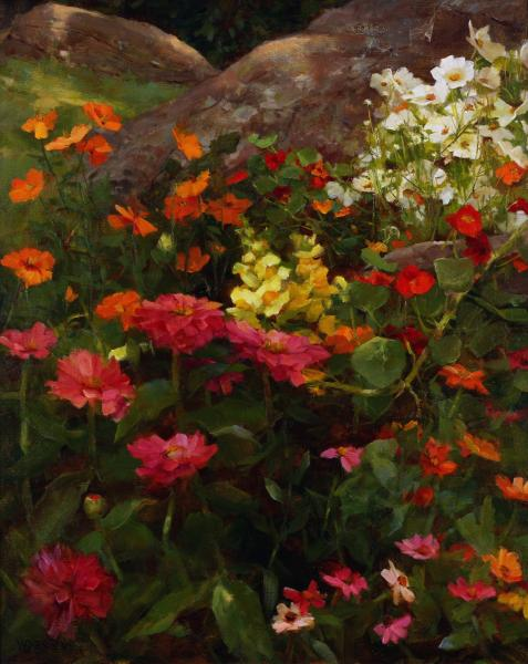 Summer's Bounty, oil on linen, 20 x 16 inches  SOLD