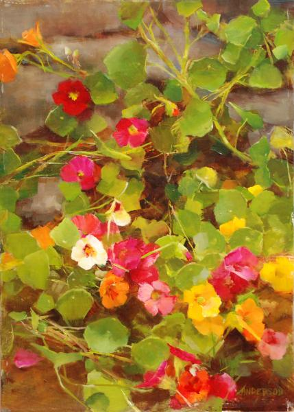 Summer Jewels, oil on panel, 14 x 10 inches  SOLD