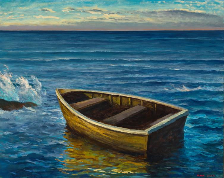 Golden Boat, oil on linen, 24 x 30 inches, $Please Inquire