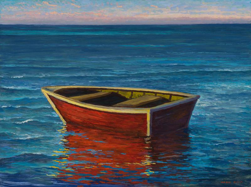 Life Boat, oil on panel, 18 x 24 inches  SOLD