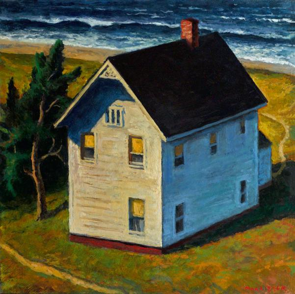Sea House, oil on panel, 14 x 14 inches  SOLD