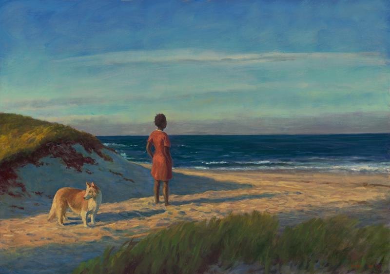 The Vacation, oil on linen, 34 x 48 inches  SOLD