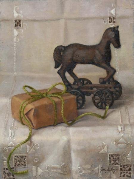 Favorite Things, oil on panel, 8 x 6 inches, $700