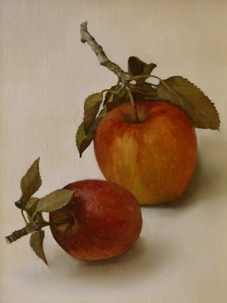 Autumn Apples # 2, oil on linen, 8 x 6 inches, $700