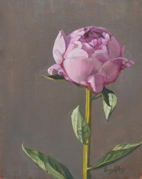Chelsea Peony, oil on linen, 10 x 8 inches  SOLD