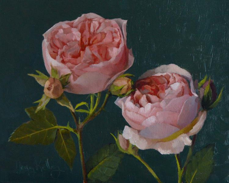 English Roses, oil on panel, 8 x 10 inches  SOLD