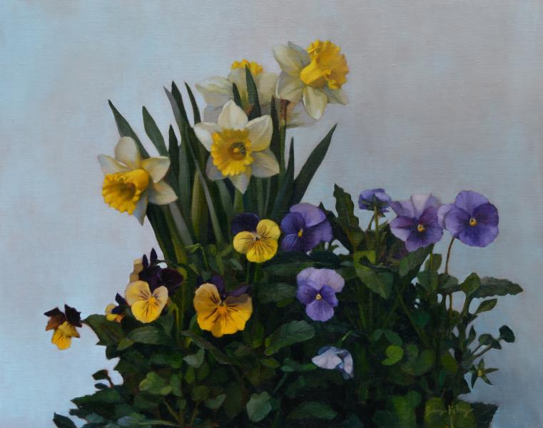 Spring Flowers, oil on linen, 16 x 20 inches, $2,500