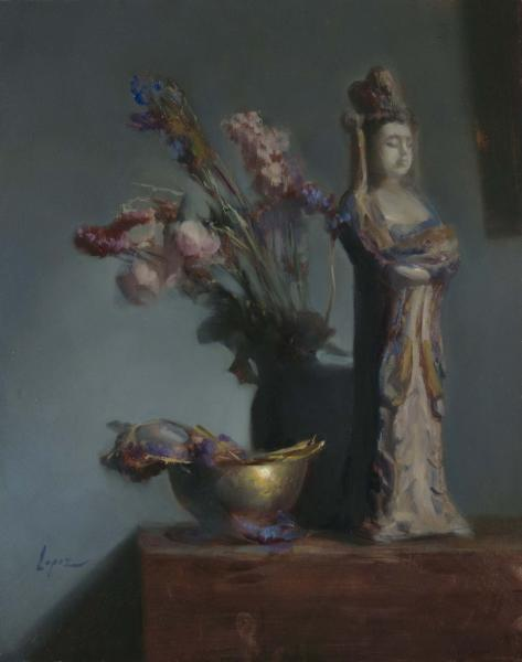 Lady Guardian, oil on panel, 20 x 16 inches, $4,500