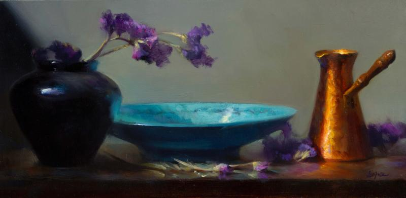 Treasured Vessels, oil on panel, 8 x 16 inches  SOLD
