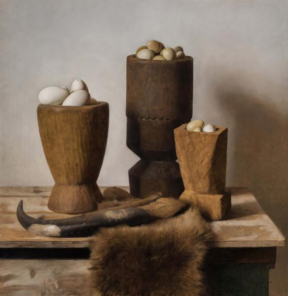 Mortars, oil on linen, 30 x 29 inches  SOLD