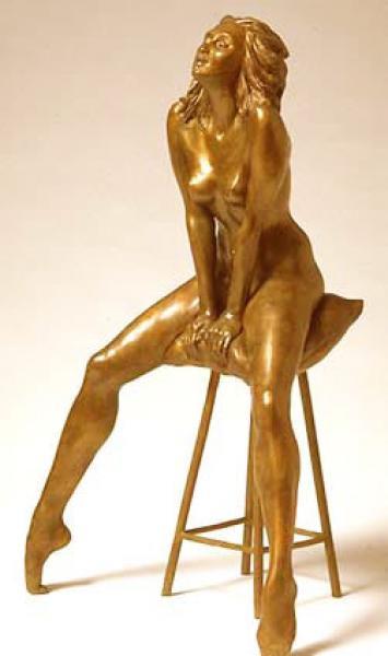"Awakening, Bronze, 21""h x 12 7/8""w x 8 1/2""d , $10,000"