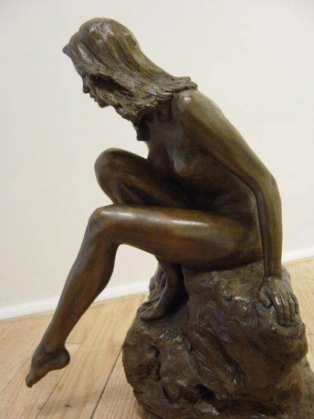 The Bather, Bronze, 15 x 8.25 x 11.25 inches, $6,000