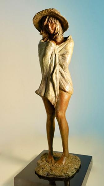 Beach Girl, Bronze, 12.5 x 5 x 4 inches, $3,200