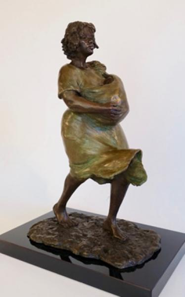 Blossom, Bronze, 13.75 x 6 x 9.75 inches, $3,300