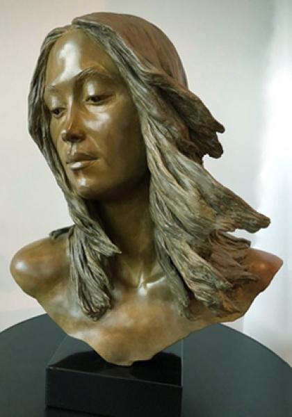 """Grace, Bronze, 19 1/2""""h x 16""""w x 11""""d , $8,900"""