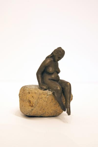 Morning Dip, Bronze, 2.75 x 1.5 x 2 inches (figure size only), $490