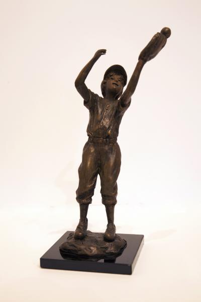 The Catch, Bronze, 9.5 x 3.5 x 3.5 inches, $970