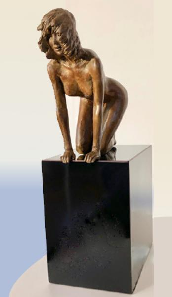 Muse, Bronze, 11.75 x 6.5 x 7 inches, $2,550