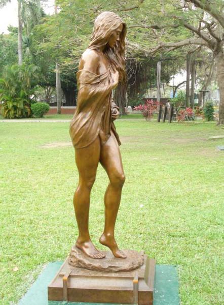 "Serenity (Lifesize), Bronze, 83""h x 30""w x 24""d, $120,000"