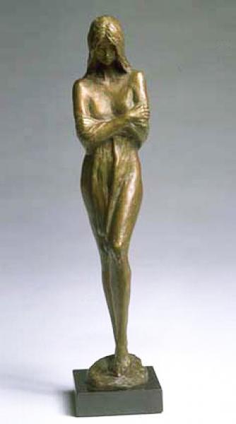 Solitude, Bronze, 13.5 x 3 x 3.5 inches  SOLD
