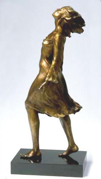 """Sudden Breeze, Bronze, 21""""h x 7""""w x 9""""d , $7,200"""