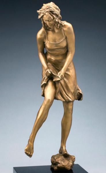 Water's Edge, Bronze, 24 x 9 1/2 x 8 inches, $9,100