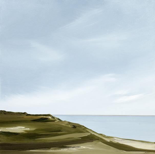 Apex, Backshore, Wellfleet, oil on canvas, 20 x 20 inches, $2,000