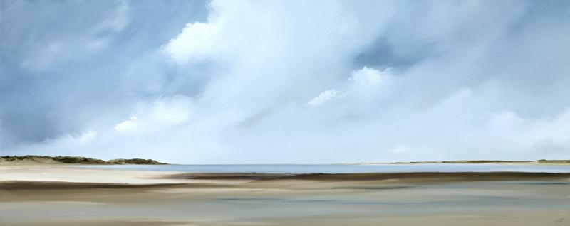 Canon II, Pleasant Bay, Chatham, oil on canvas, 20 x 50 inches  SOLD