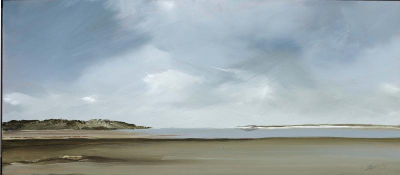 Canon, Pleasant Bay, Chatham, oil on copper, 6 x 14 inches   SOLD