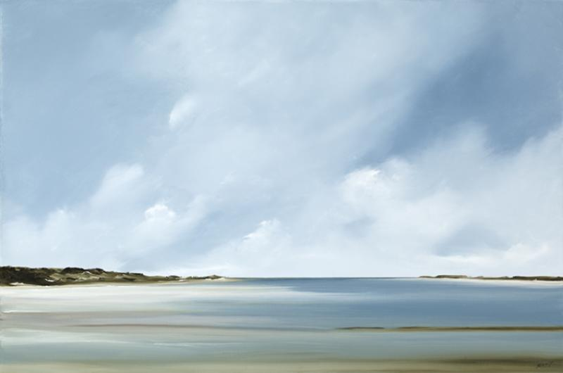 Currents, Pleasant Bay, Chatham, oil on canvas, 20 x 30 inches, $3,000