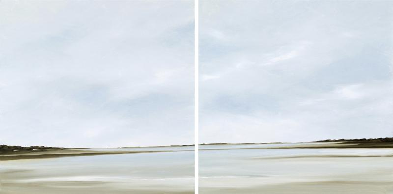 Fresh Light, Diptych, oil on canvas, 20 x 40 inches   SOLD