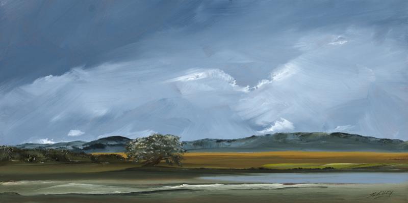 Great Marsh, Plum Island, Newburyport, oil on copper, 6 x 12 inches, $1,200